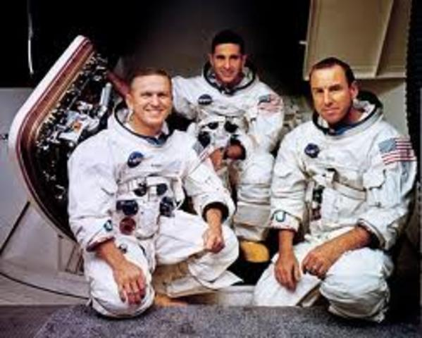 First manned spacecraft to orbit The Moon