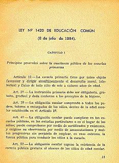 Ley 1420-Educación Común