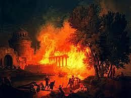 Incendio en Roma