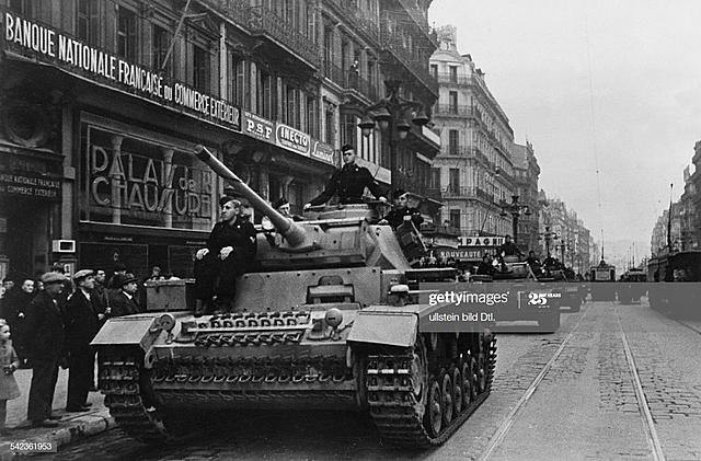 German Tanks Enter France