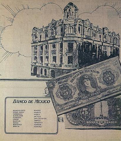 Se creó el Banco mexicano.