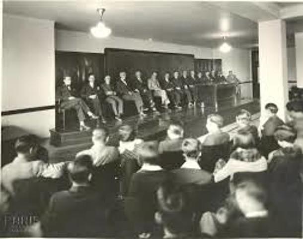 La primera Convención Bancaria.