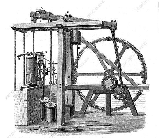 Watts Efficient Steam Engine