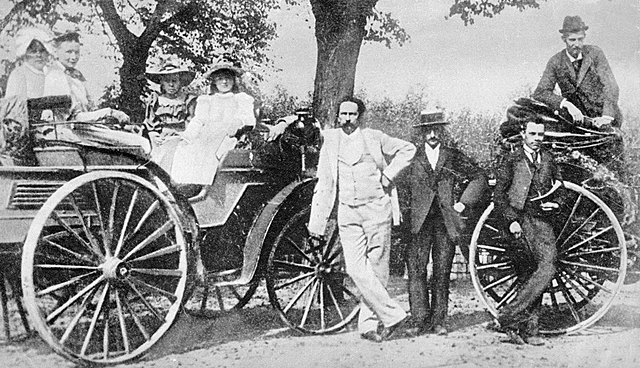 First Automobile with Combustion Engine