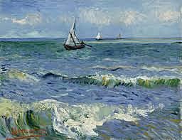 pinta paisajes de la orilla del mar
