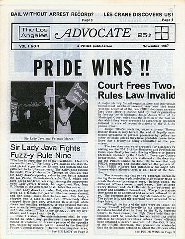 The Advocate founding issue