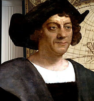 Christopher Columbus sails To the New World