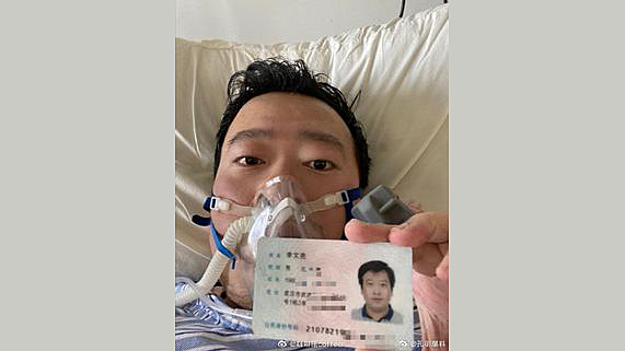 Dr. Li Wenliang publishes a report of his experience at the police station.