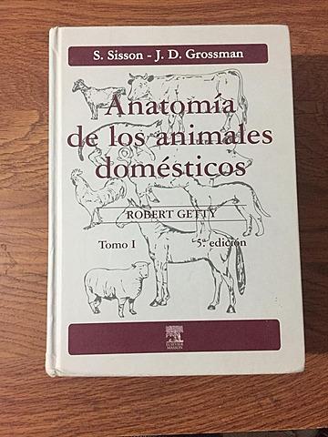 """Publicación del libro """"Anatomía de los animales domésticos"""""""
