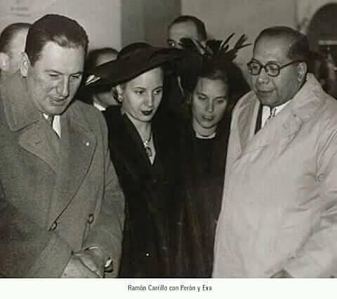 Eva Peron, Juan D.Peron y Ramon Carrillo