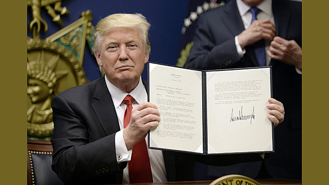 Pres. Trump issues Executive Order 13769 Protecting the Nation from Foreign Terrorist Entry into the United States.