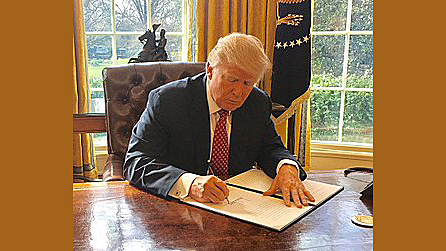 Pres. Trump issues Executive Order 13780 Protecting The Nation From Foreign Terrorist Entry Into The United States.