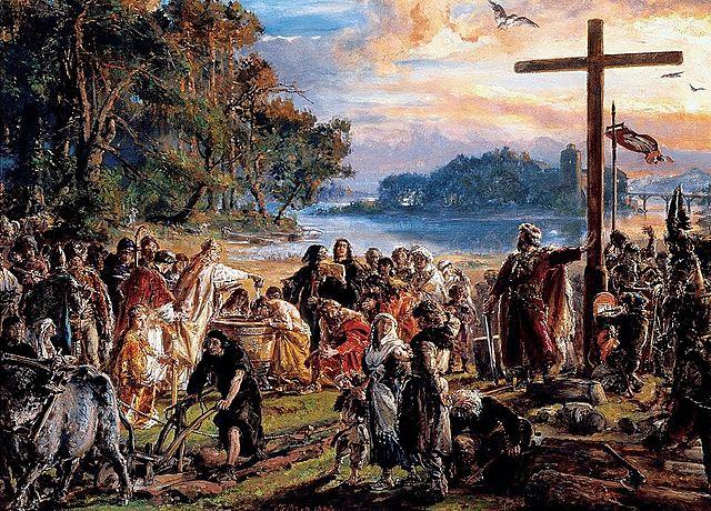 Baptism of Poland 966r.