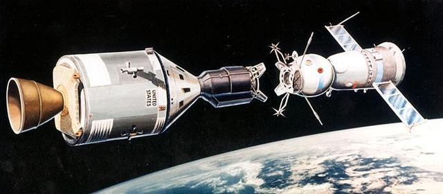 American Apollo (18) and Soviet Soyuz (19)