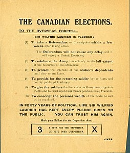 Wartime Elections Act (Social Change) (+1)