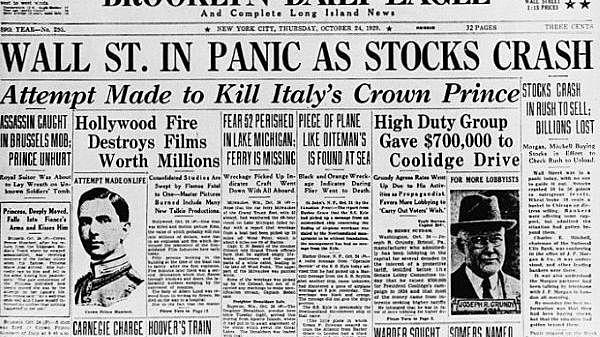The Stock Market Crash (Economic Change) (-2)