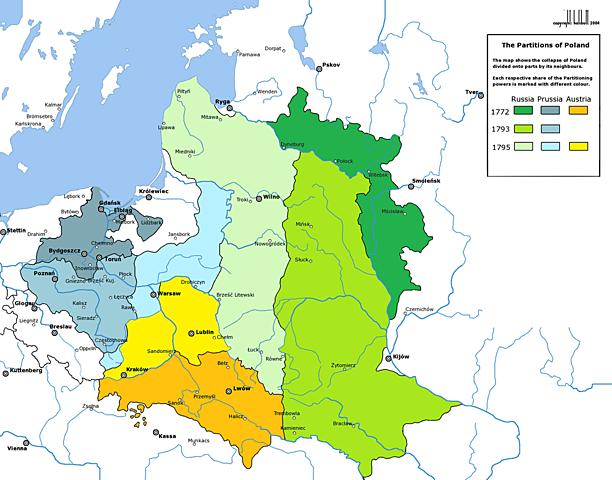 Three Partitions of Poland: 1772r., 1793r., 1795r.