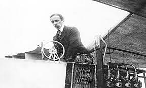 First person to fly in a self-propelled plane