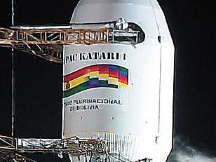 The launch of the Tupac Katari satellite