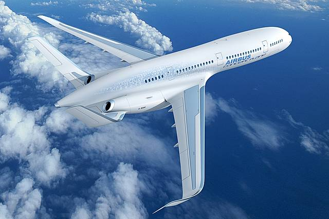 Lighter and more energy efficient aeroplane.
