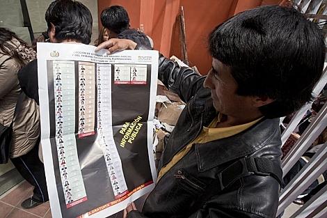 Bolivians voted for judgeships