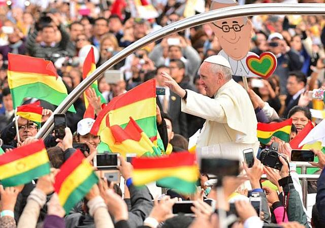 Pope Francis in Boliva