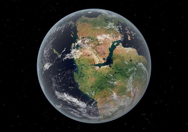 Formación de un supercontinente