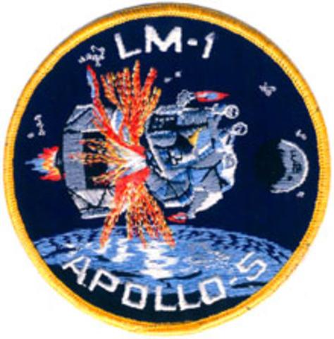 Amerikansk provskjutning av månlandaren i Apolloprojektet