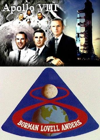Första människorna vid månen