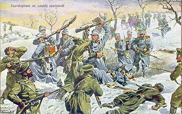 Austria-Hungary invades Russia.