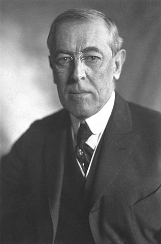 President Woodrow Wilson presents to Congress his outline of Fourteen Points required for peace.
