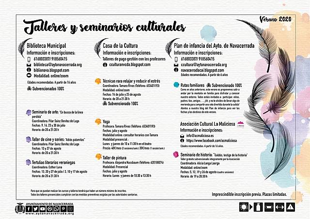 Talleres y seminarios culturales
