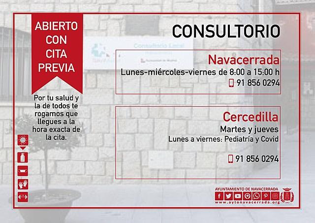 REAPERTURA CONSULTORIO DE NAVACERRADA