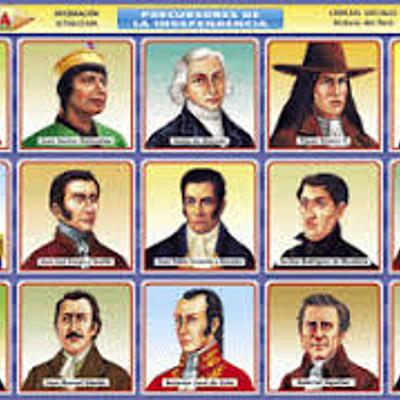Precursores y Próceres de la Independencia   timeline