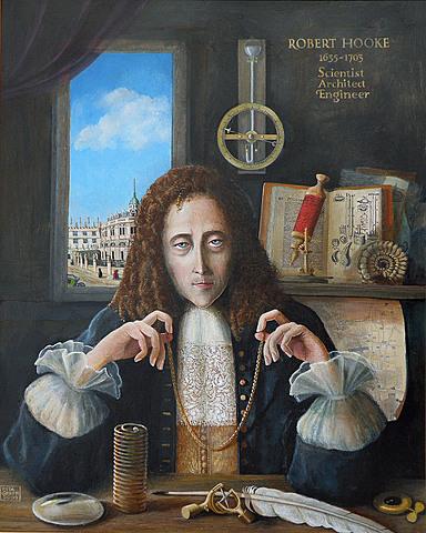 Hooke miembro fundador de la Real Sociedad