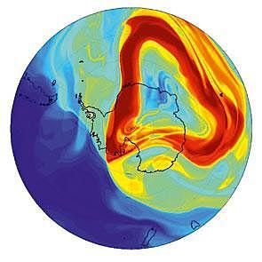 Efecto por el arrastre de nuestro planeta (Stokes)