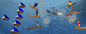 En Atenas explotan barco Romano