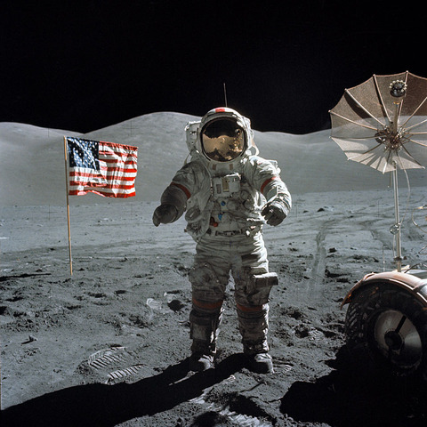 Apollo 17 returning from the Moon