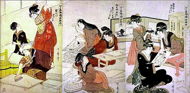 Período Azuchimomoyama: Xilografía japonesa