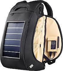 mochila con energía solar