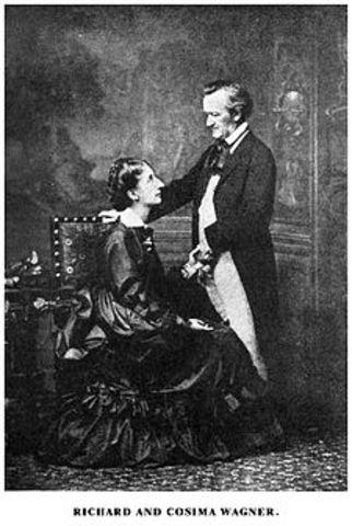 Wagner met Mathilde Wesendonck, the wife of a silk merchant Otto Wesendonck in Zürich
