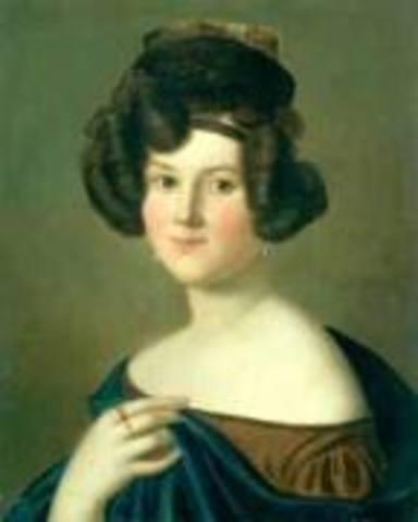 Saw the dramatic soprano Wilhelmine Schröder-Devrient on stage