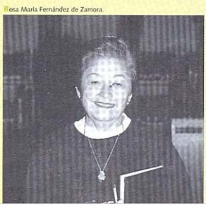 Rosa María Fernández de Zamora, Coordinadora General de la Biblioteca Nacional de México.