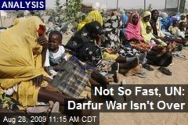 Darfur War Over?
