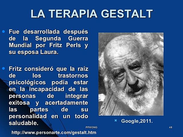 """Teoría de la personalidad: Fritz Perls """"Psicología Gestáltica"""""""