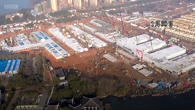 Wuhan begins construction of temporary hospital.