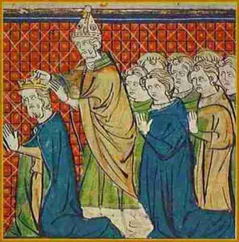 Carlomagno fue proclamado rey por el papa.