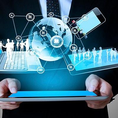 Evolución de  los sistemas de negocios electrónicos. timeline