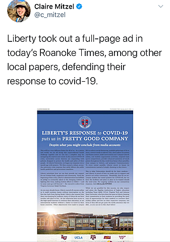Liberty Makes Huge Ad Buy to Brag About Its COVID-19 Response