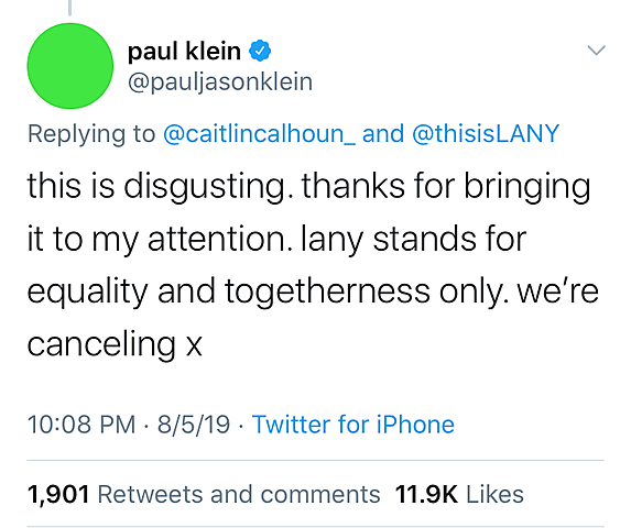 LANY Cancels Campus Concert